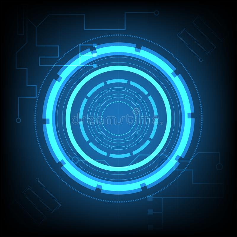 Abstract background Abstract futuristic on circuit board royalty free illustration