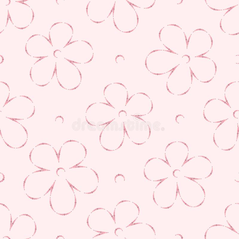 Vector Illustration - Abstract light floral seamless pattern. Textile print royalty free illustration