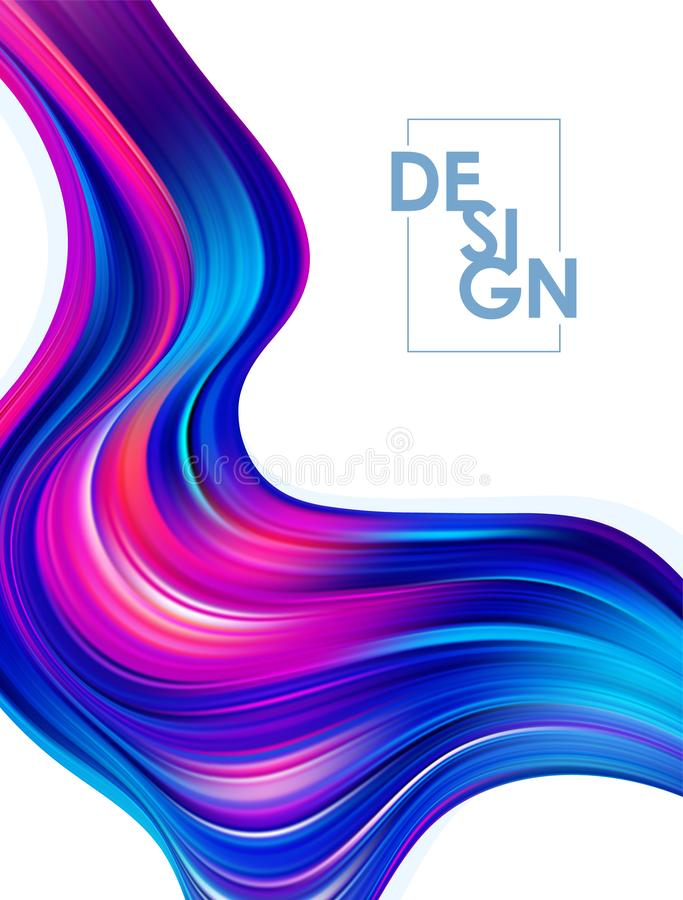 Vector illustration: Abstract modern colorful flow posters. Twisted wavy liquid background. Trendy art design. Abstract modern colorful flow posters. Twisted stock illustration
