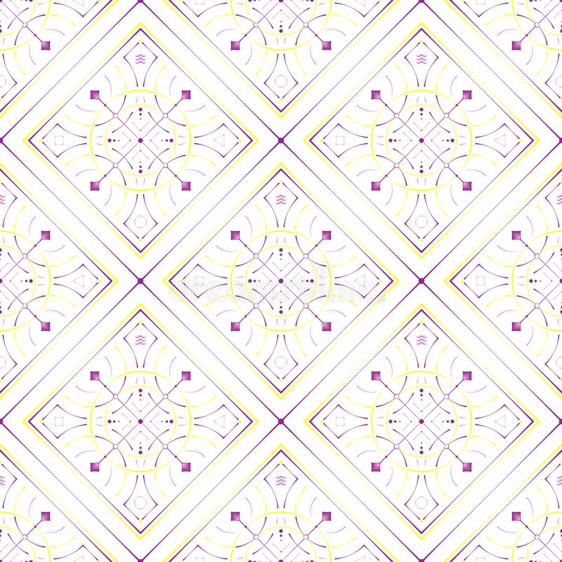 Vector Illustration. Abstract symbol seamless pattern, print, background. royalty free illustration