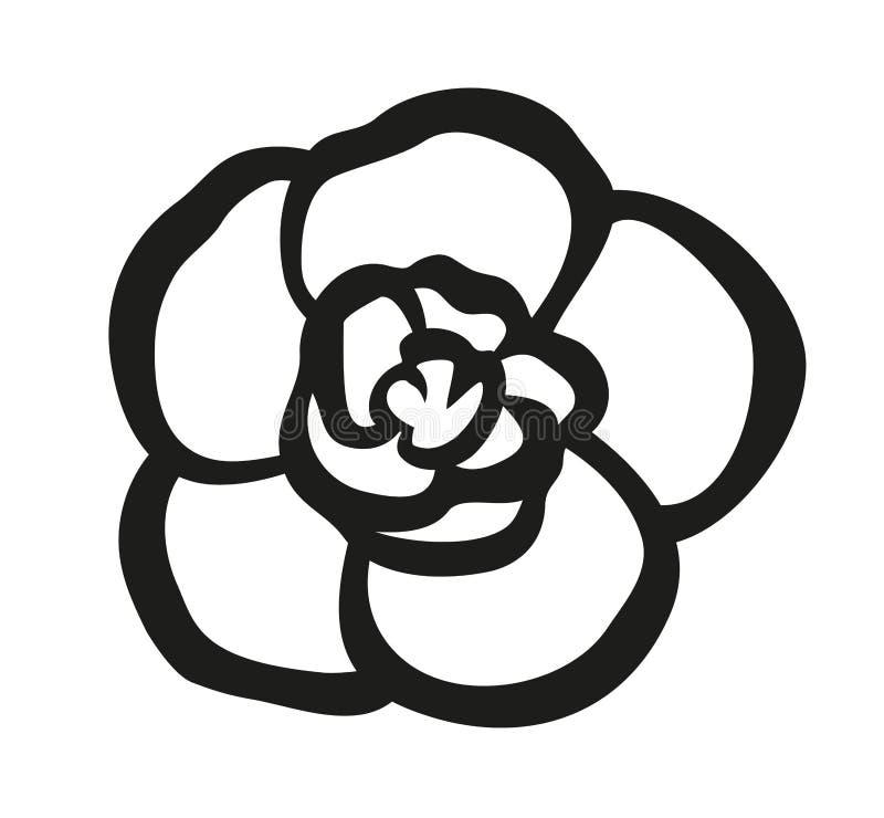 Vector illustration of Achimenes flower stock illustration