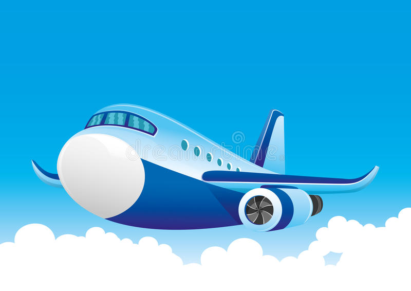 Vector illustration. Aircraft. royalty free illustration