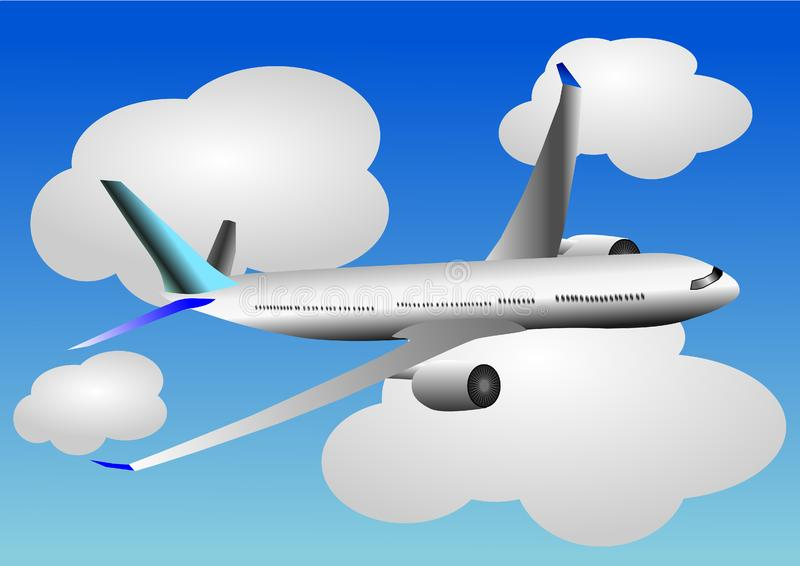 Download Vector Illustration Of Airplane Or Airbus Plane Stock Vector - Illustration of illustration, image: 13689033