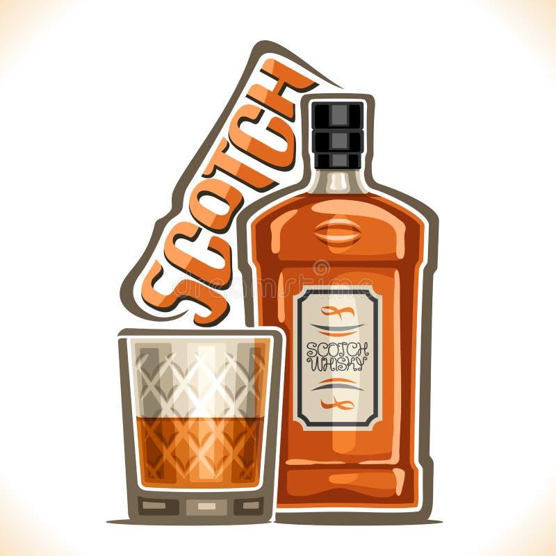 Vector illustration of alcohol drink Scotch Whisky vector illustration