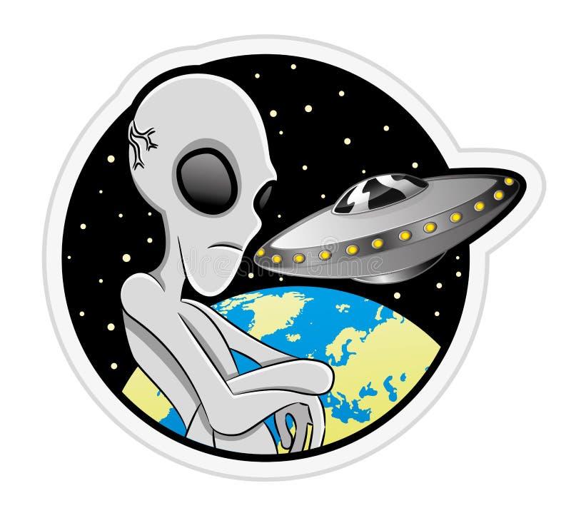 Vector illustration. Alien. vector illustration