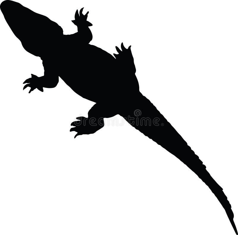 Alligator vector silhouette. Vector illustration of alligator silhouette isolated on white vector illustration