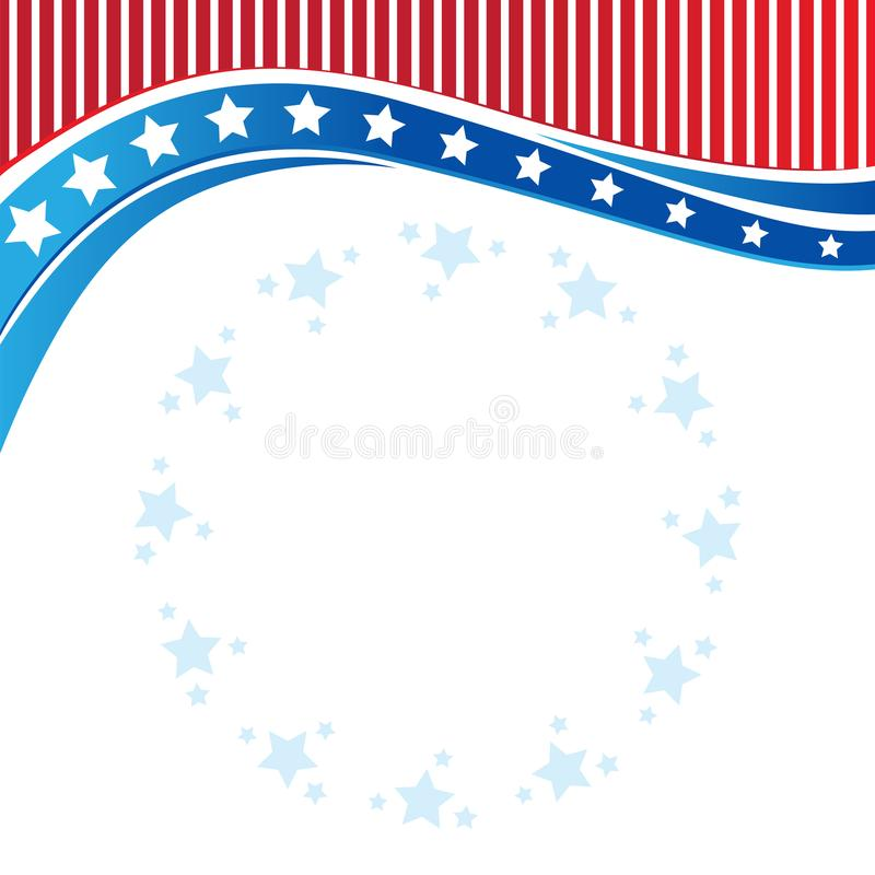 American Patriotic border, background, with stars vector illustration