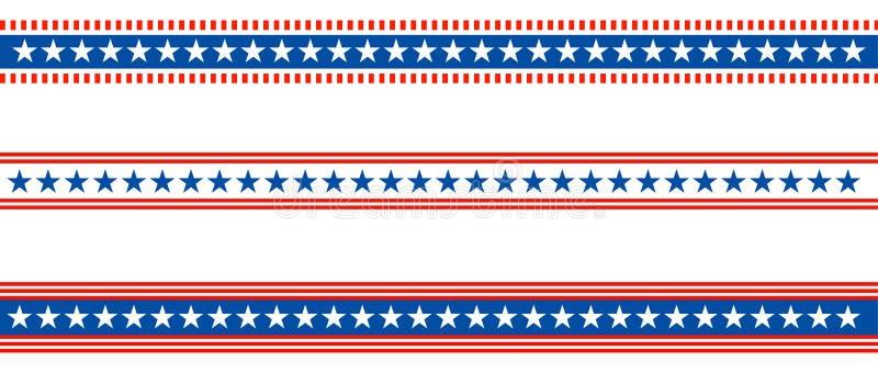 Patriotic border divider american usa flag vector illustration