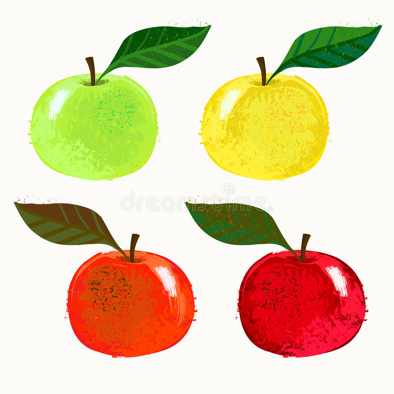 Download Vector Illustration Of Apple Fruits Stock Vector - Image: 32619577