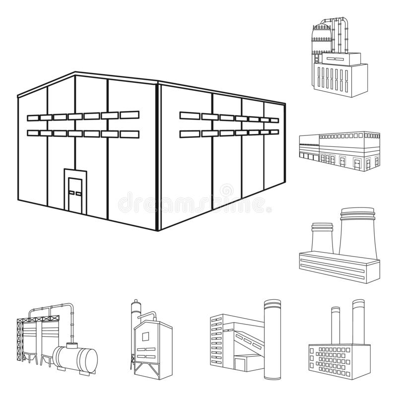 Vector design of architecture and industrial symbol. Collection of architecture and building vector icon for stock. Vector illustration of architecture and stock illustration