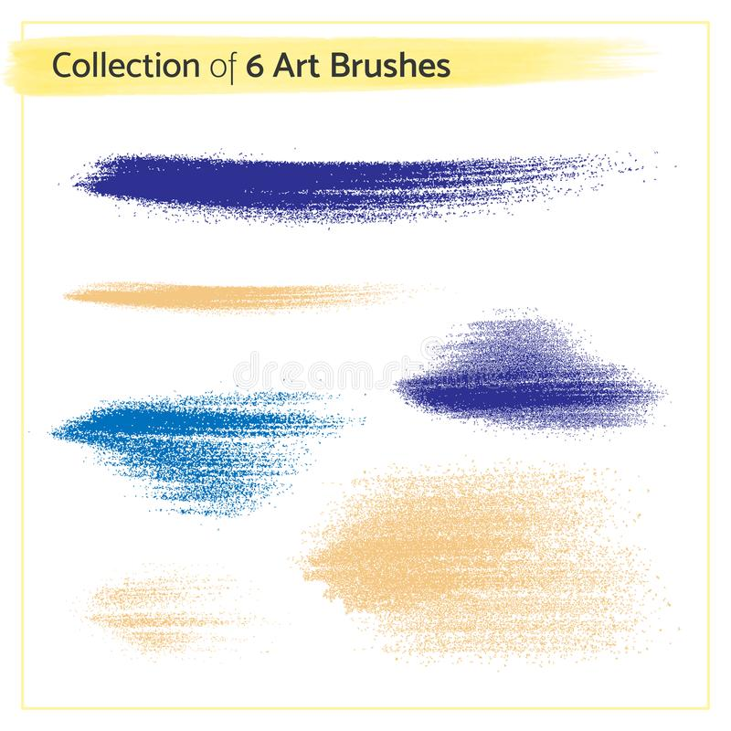 Vector Illustration - Collection of 6 Art Brushes royalty free illustration