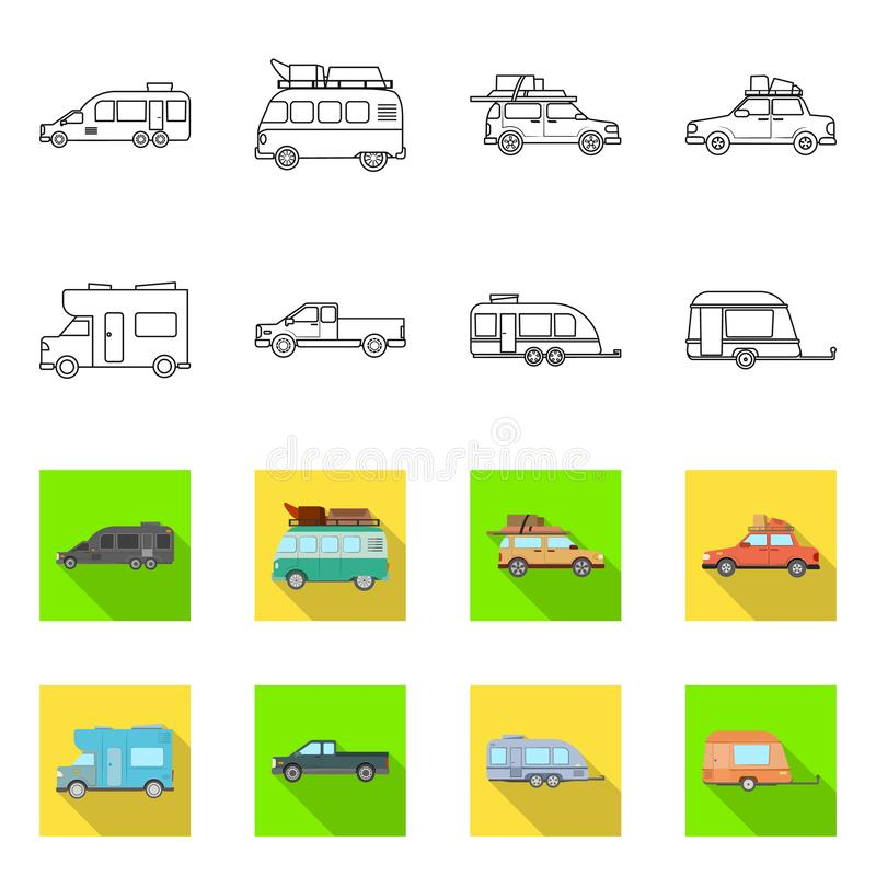 Vector design of auto and journey logo. Set of auto and trailering stock vector illustration. Vector illustration of auto and journey icon. auto and trailering vector illustration