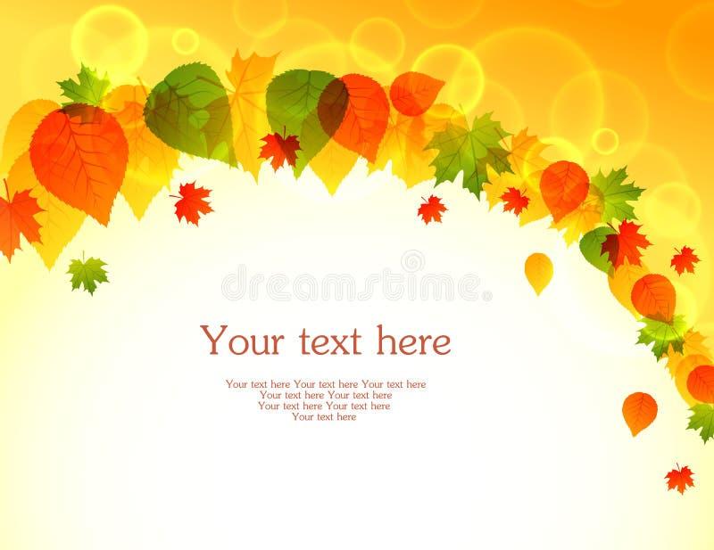 Vector illustration of Autumn leafs back vector illustration