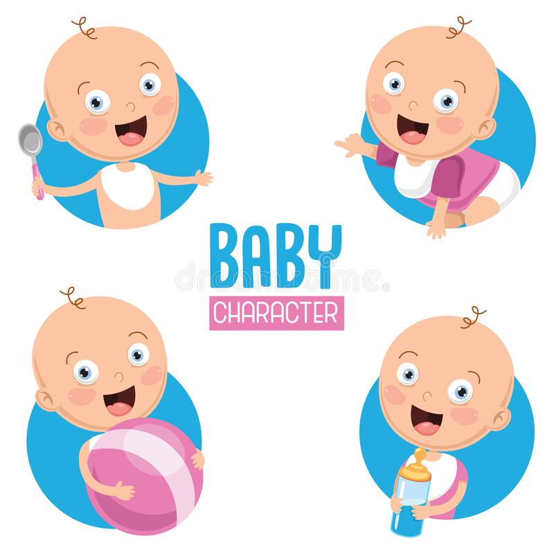 Vector Illustration Of Baby. Eps 10 stock illustration