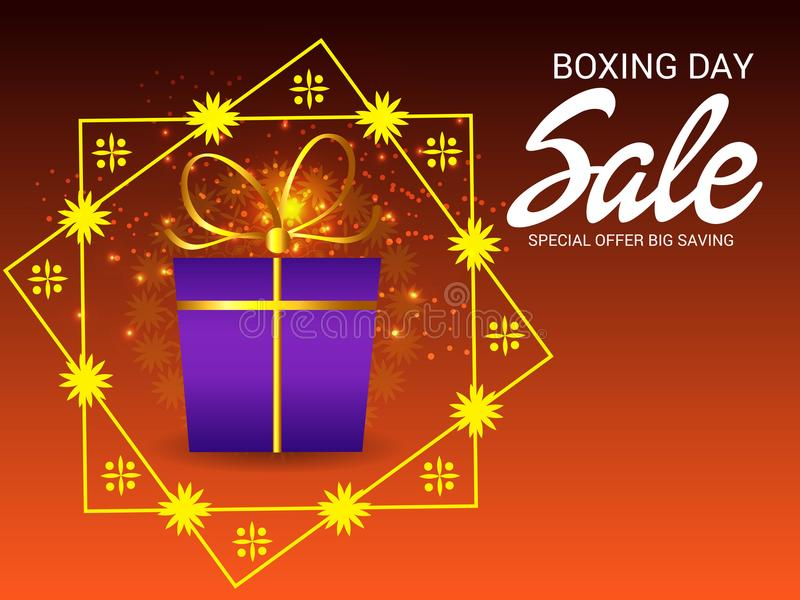 Boxing Day Sale Background. vector illustration