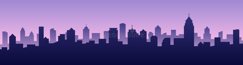 Vector illustration background city skyline silhouette cityscape vector illustration