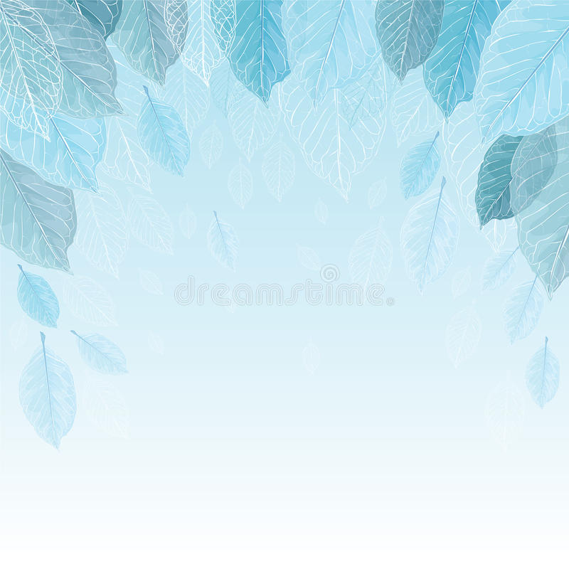 Free Vector Illustration Background Of Leaves In Frost. Royalty Free Stock Photography - 62188397
