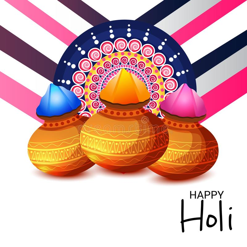 Traditional Indian Festival Holi Celebration. Vector illustration of a Background for Traditional Indian Festival Holi Celebration vector illustration