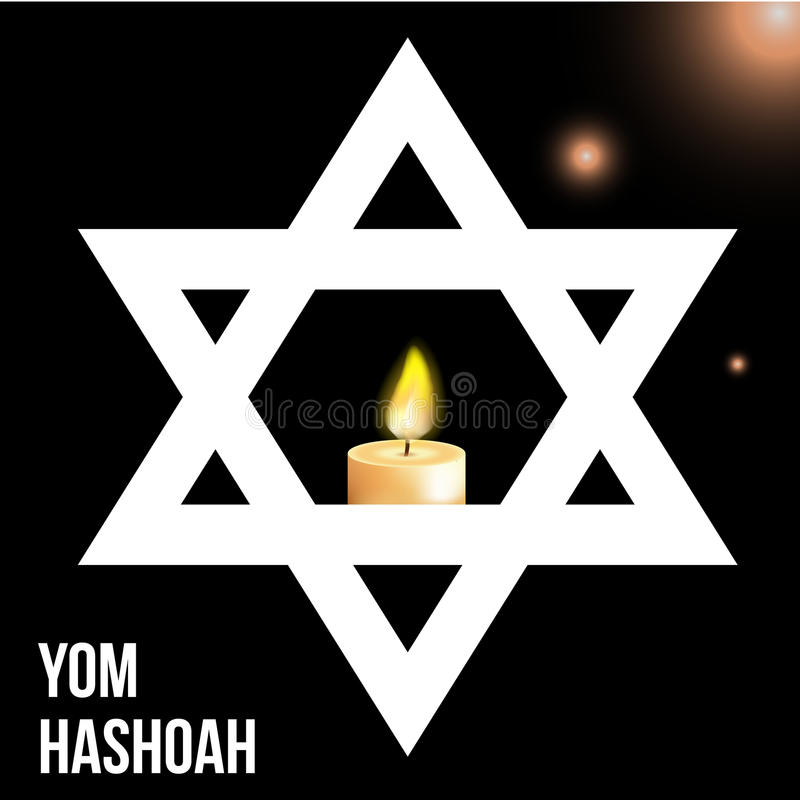 Vector illustration of a background for Yom Hashoah -remembrance Day stock illustration