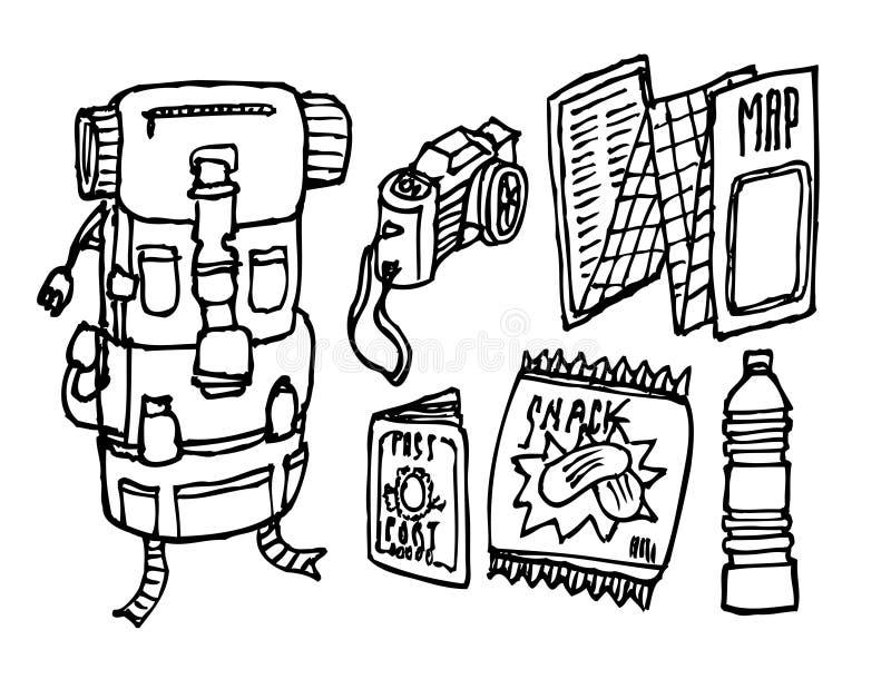 Download Backpacker survival set stock vector. Image of bottle - 30298124