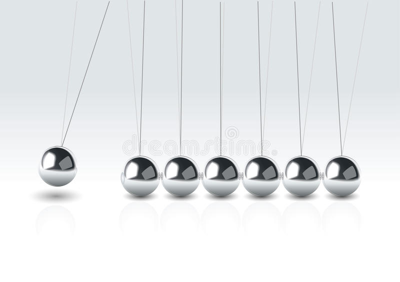 Vector illustration of balancing balls royalty free illustration