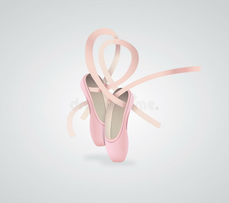 Vector illustration ballet shoes royalty free stock image