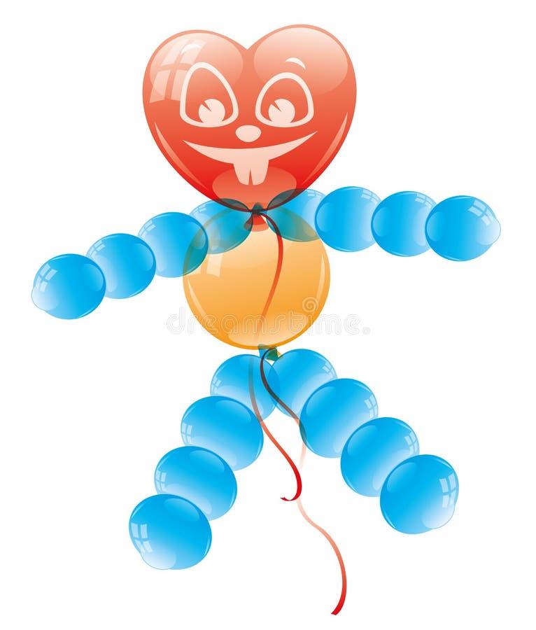 Vector illustration. Balloons. Vector illustration. Balloons isolated on white stock illustration