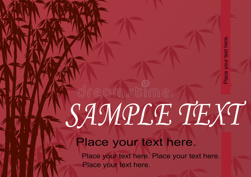 Vector illustration bamboo twigs. Abstract. royalty free stock photography