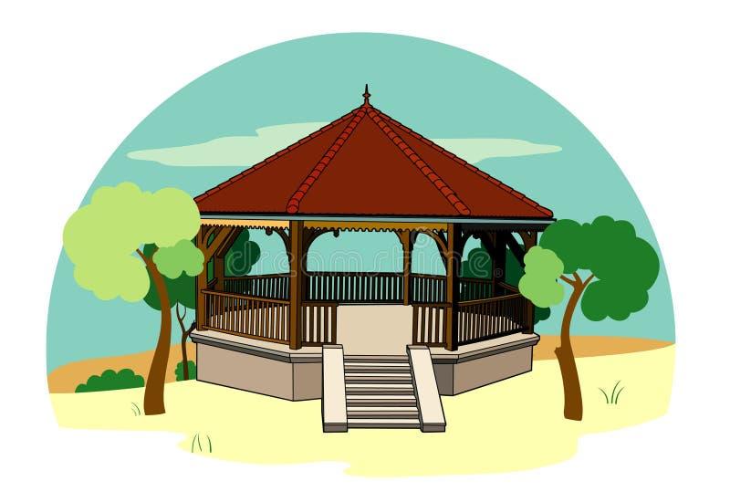 Bandstand in the landscape royalty free illustration