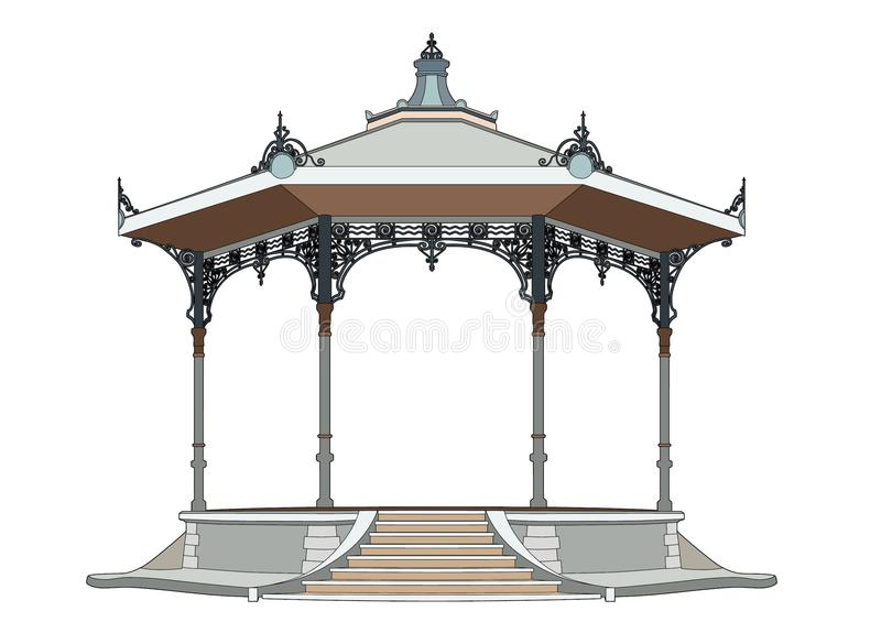 Pretty bandstand royalty free illustration