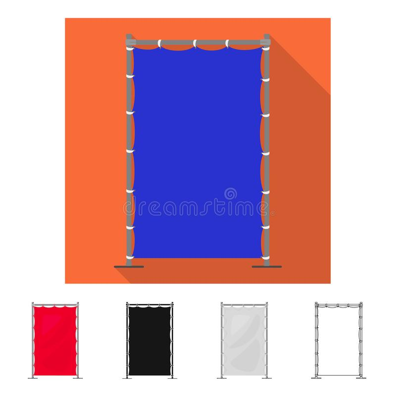 Vector illustration of banner and screen  icon. Collection of banner and wall  vector icon for stock. Isolated object of banner and screen  symbol. Set of vector illustration