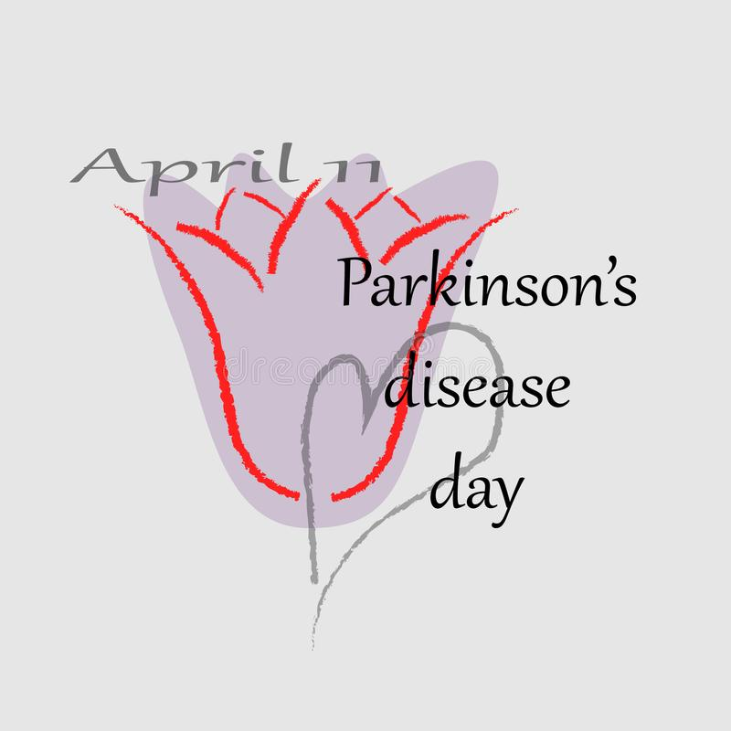 Vector illustration of a Banner for World Parkinson Day. royalty free illustration