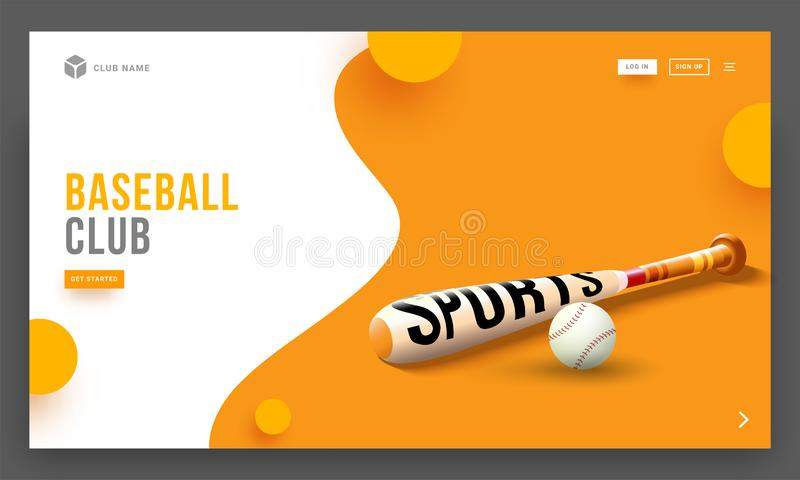 Vector illustration of baseball bat and ball. stock illustration