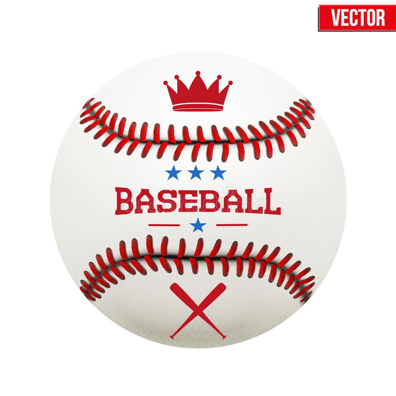 Vector illustration of baseball leather ball stock photography