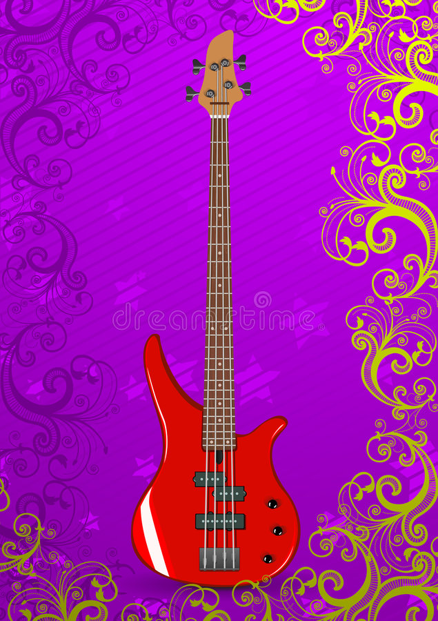 Download Vector Illustration Of Bass Guitar Stock Vector - Image: 8768726