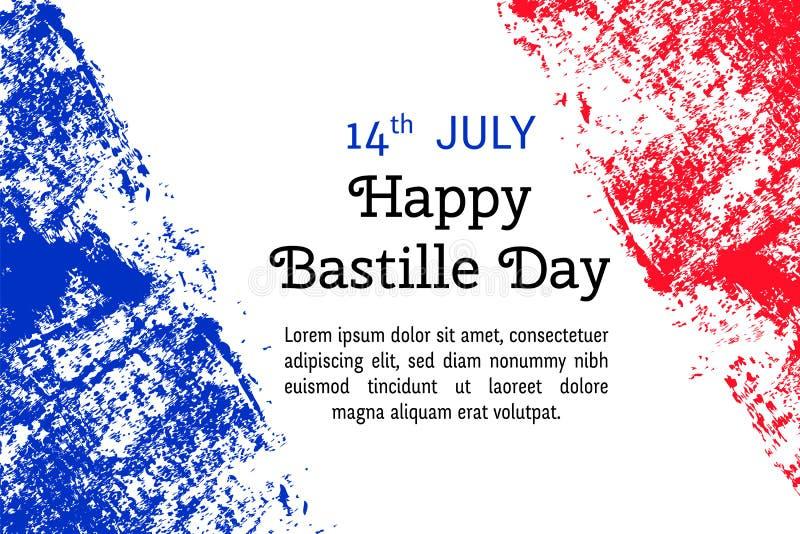 Vector illustration for bastille day french flag in trendy grunge download vector illustration for bastille day french flag in trendy grunge style design template m4hsunfo