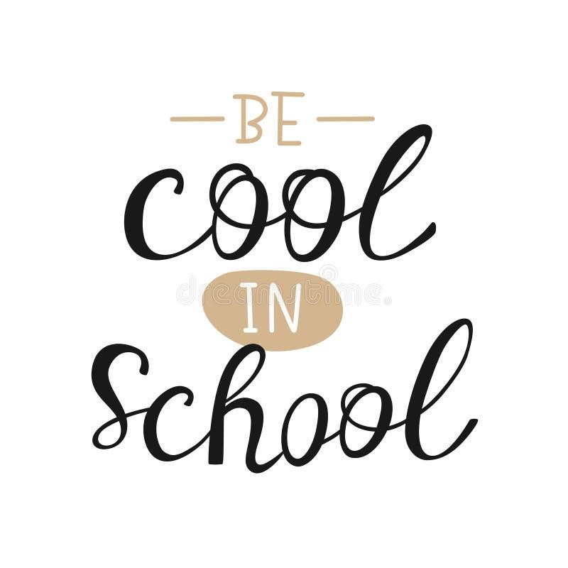 School lettering stock illustration