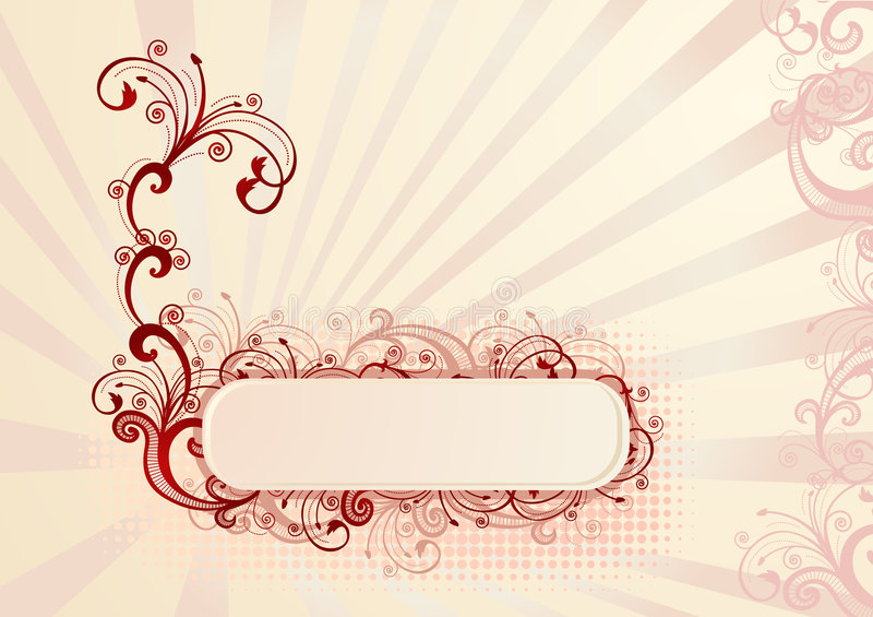 Vector illustration of beautiful floral frame stock image