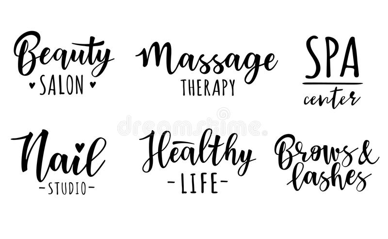 Vector illustration of a beauty and healthy set stock illustration