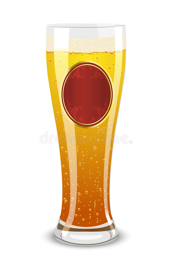 Download Vector Illustration Of A Beer Stock Vector - Illustration of drink, label: 7042457