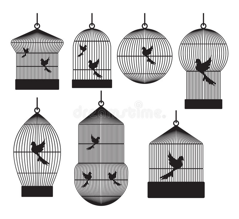Bird cages vector illustration