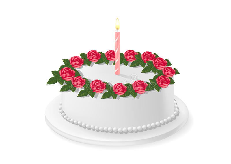 Download Birthday Cake stock vector. Image of frosting, colored - 30132970