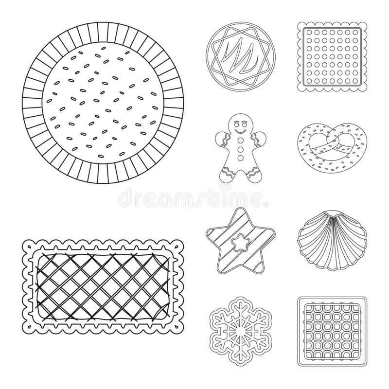 Vector design of biscuit and bake logo. Collection of biscuit and chocolate vector icon for stock. vector illustration