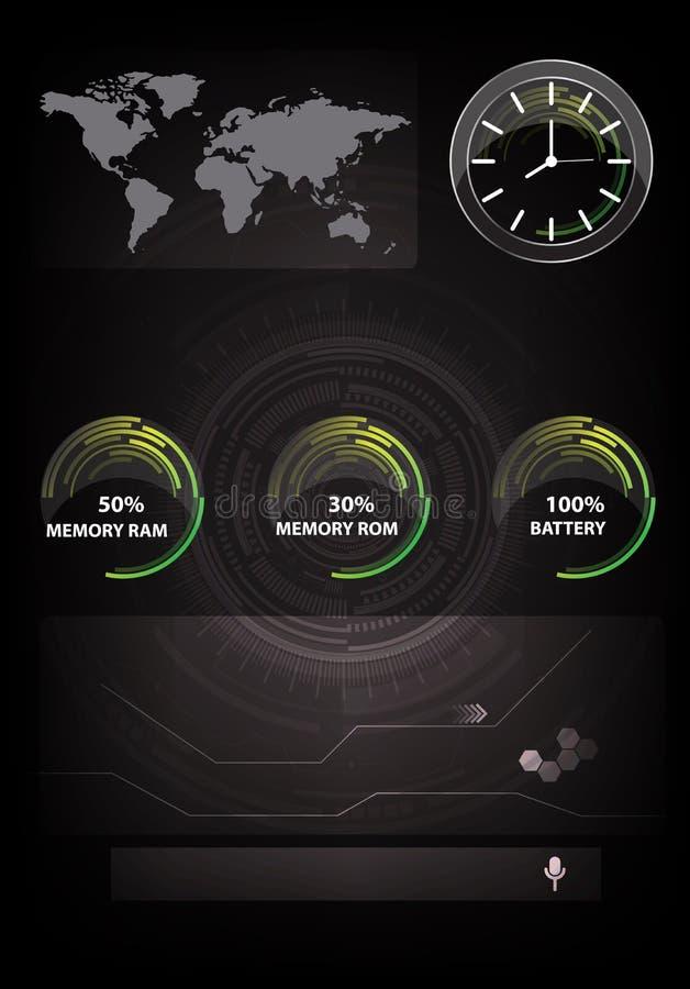 Vector illustration of black abstract hi-tech smart phone. Vector illustration of black abstract hi-tech technology smart phone background vector illustration