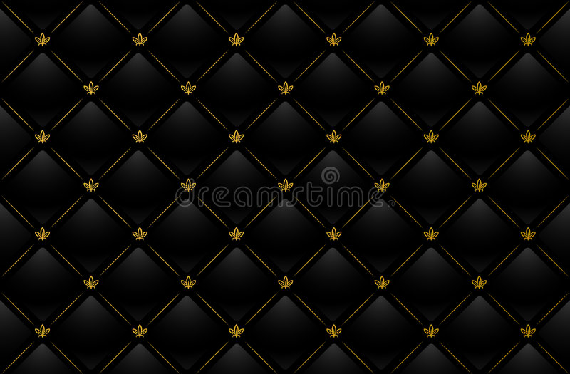 Vector illustration of black leather background stock illustration