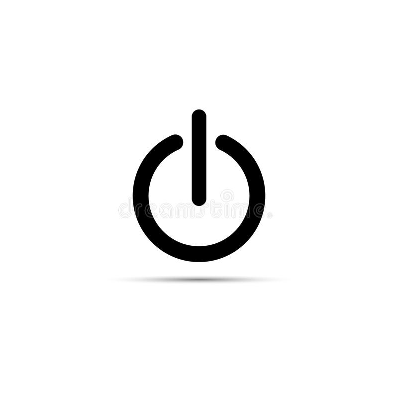 Vector Illustration Of Black Power Sign Icon Flat Design Stock