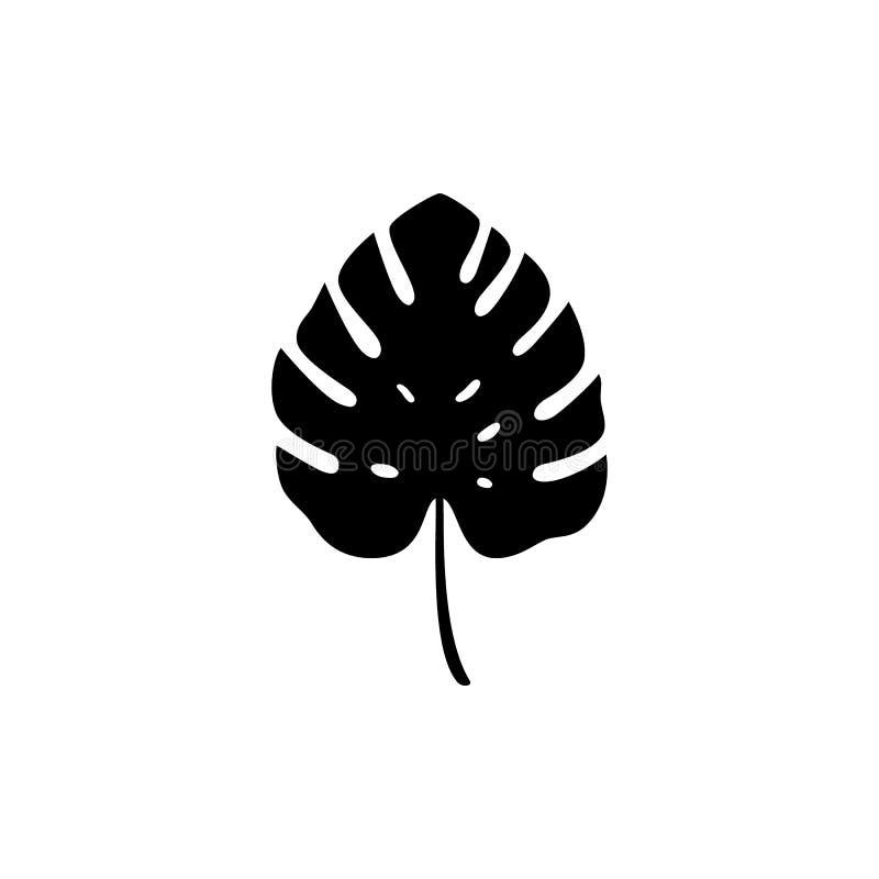 Monstera Leaf Black Stock Illustrations 5,972 Monstera