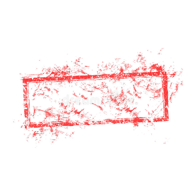Vector illustration blank dirty red used business grunge stamp i vector illustration