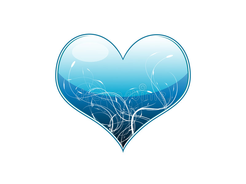 Vector illustration of a blue royalty free illustration