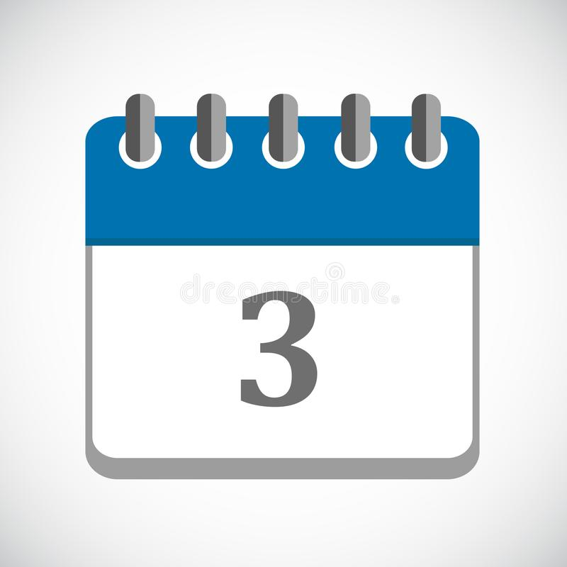 Calendar Icon In Circle, Vector Eps10 Illustration. Stock